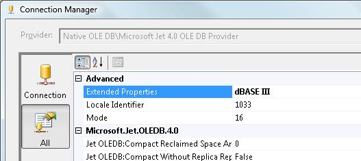 Tip: Connect to dBASE files in SSIS > The MidnightDBA Star-Times