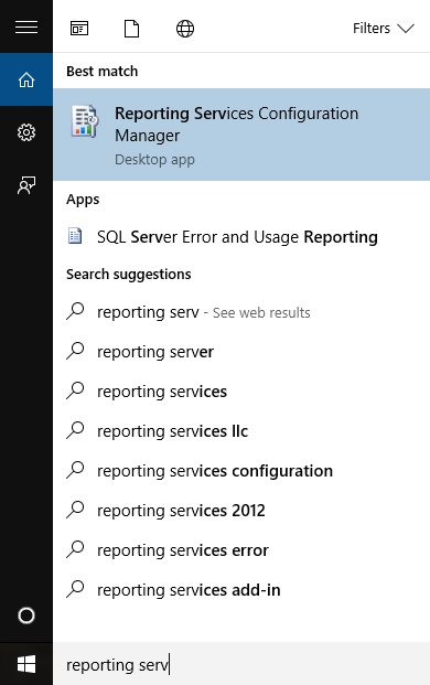 Where on Earth is the SQL Server Reporting Services Config